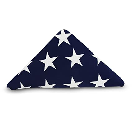 b1976565676e1 Anley  Memorial Flag American US Flag 5x9.5 Foot Heavy Duty Cotton for  Veteran - Embroidered Stars and Sewn Stripes - 4 Rows of Lock Stitching -  USA Burial ...