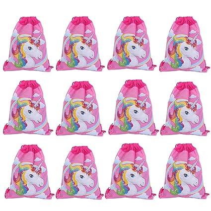 Lote de 24 Mochilas Bolsas Infantiles Niñas Unicornios ...