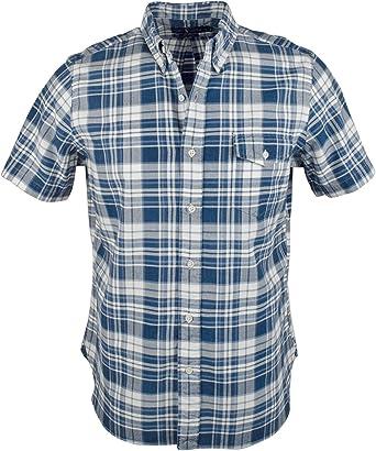 Polo Ralph Lauren Men S Short Sleeved Plaid Oxford Shirt Small