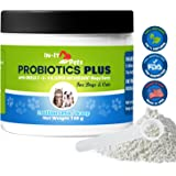 All Natural Probiotics for Dogs and Cats by In-It Pets- Top Quality Dog Probiotics to Relieve Allergies, Constipation, Bad Breath, Gas, and Diarrhea, 2 Billion CFU per Scoop, 5 oz Container