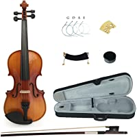 Kinglos PJB1002 1/2 Solid Wood Student Acoustic Violin Fiddle Starter Kit