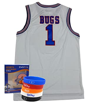 288c308664d Space Jam Jersey #1 Bugs Bunny Tune Squad Basketball Jerseys Movie Inspired  - Looney Tunes