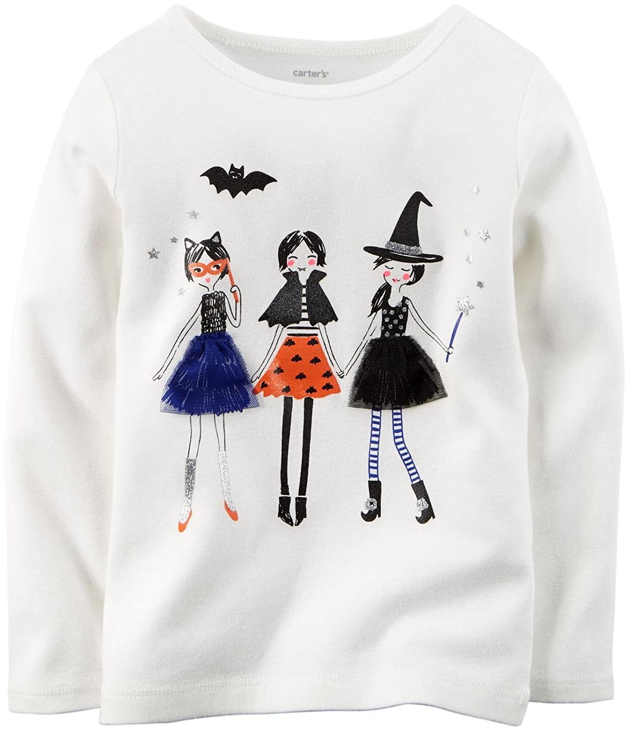 Baby Carters Baby Girls Halloween Graphic Tee 12 Months - 3 Girls