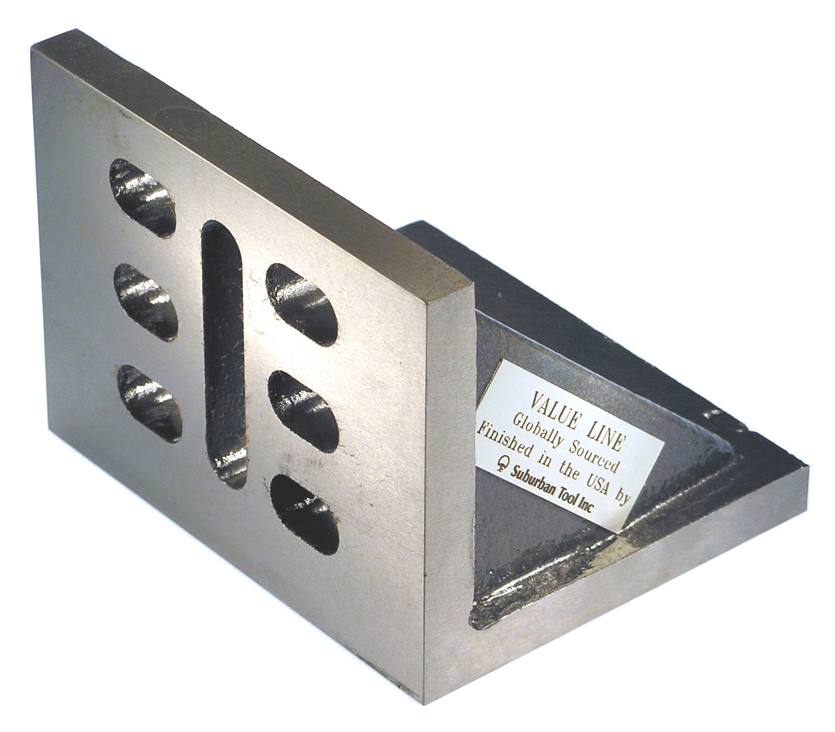 Value Line 7 x 5 x 4 Slotted Angle Plate - Webbed - Ground