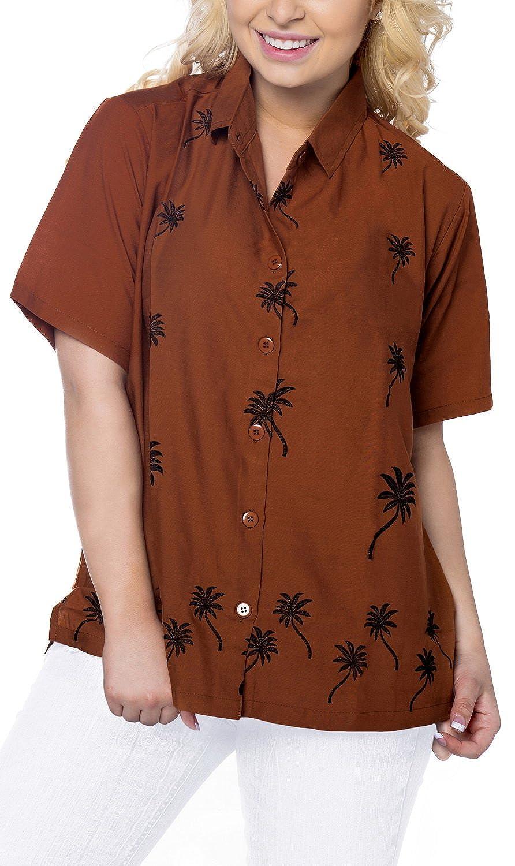 Ladies Hawaiian Shirt Beach Top Aloha Blouses Tank Casual Holiday Daily wear