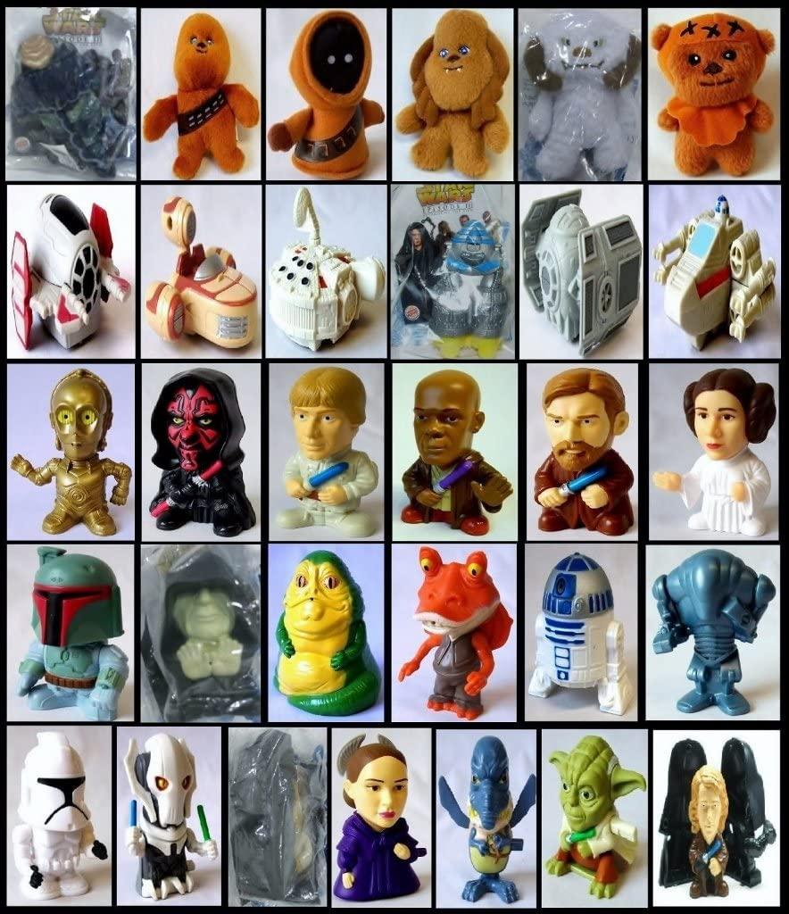 Amazon Com Burger King Revenge Of The Sith 2005 Complete Set Everything Else