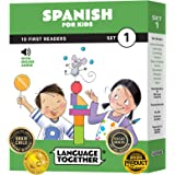 Spanish for Kids: 10 First Reader Books with Online Audio and 100 Words (Beginning to Learn Spanish) Set 1 by Language Togeth