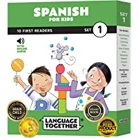 Spanish for Kids: 10 First Reader Books with Online Audio and 100 Words (Beginning to Learn Spanish) Set 1 by Language…