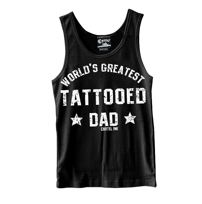 Amazon.com: Cartel Ink Worlds Tattooed Tattooed Dad Tank ...