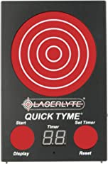 LaserLyte Trainer Target Quick TYME 62 LEDs That Light up Shot Timer Built in to Record Dry fire Laser Shots Laser Tracer FIRE The LEDs Light up in Order Being Shot Buy a Laser Trainer