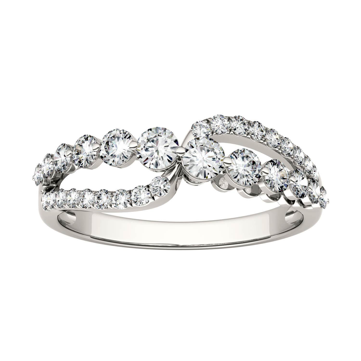 Forever Brilliant Round 3.0mm Moissanite Band Style Ring-size 7, 0.64cttw DEW By Charles & Colvard