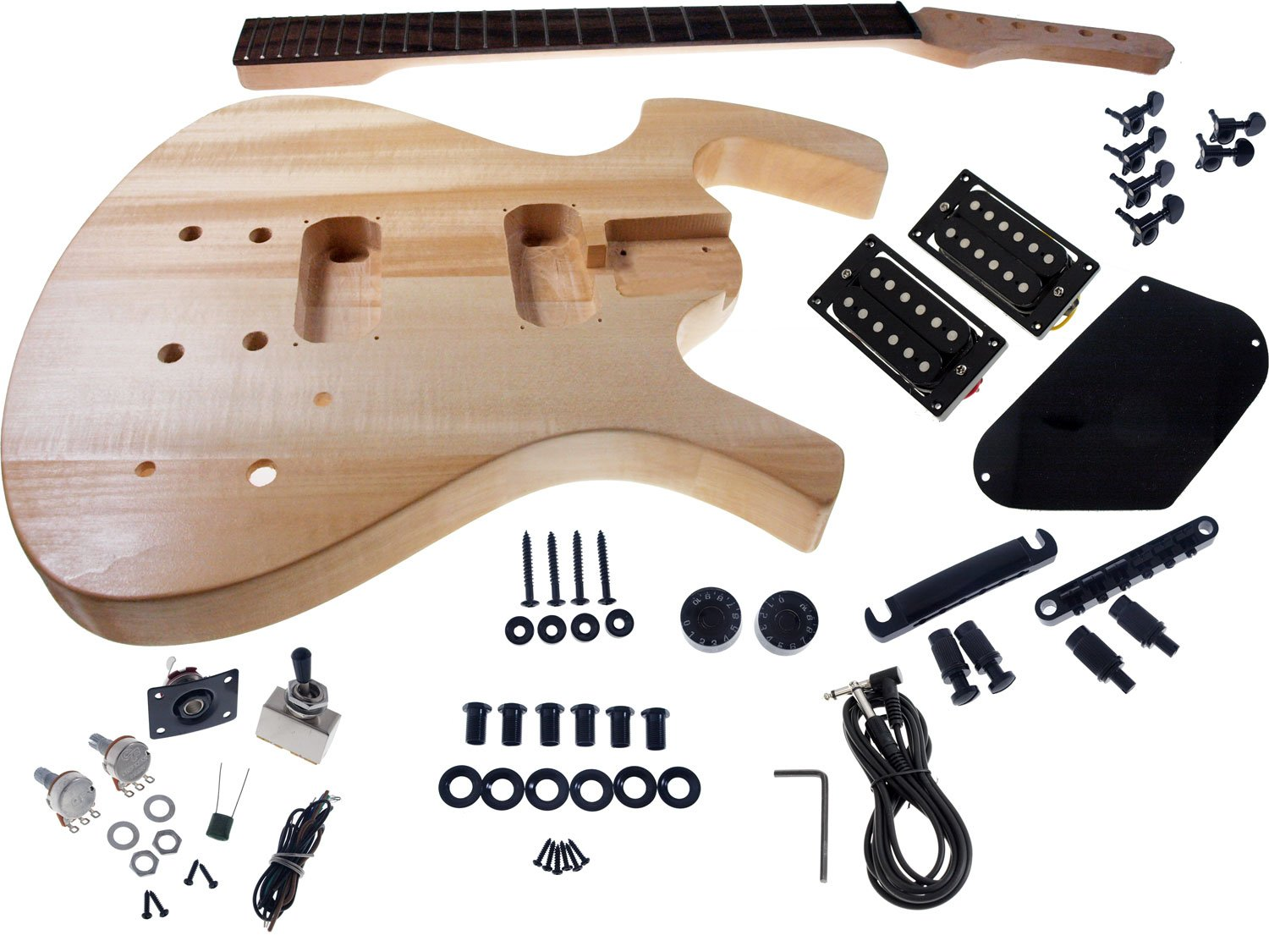 Solo FY Style DIY Guitar Kit, Basswood Body, Black Hardware Solo Guitars FYK-1