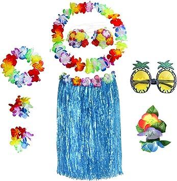 Beetest ES Faldas Hawaianas Luau con La Flor De La Cabeza ...