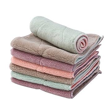 ENCOCO Paños de limpieza, toalla de cocina multifuncional de microfibra para toallas de plato,