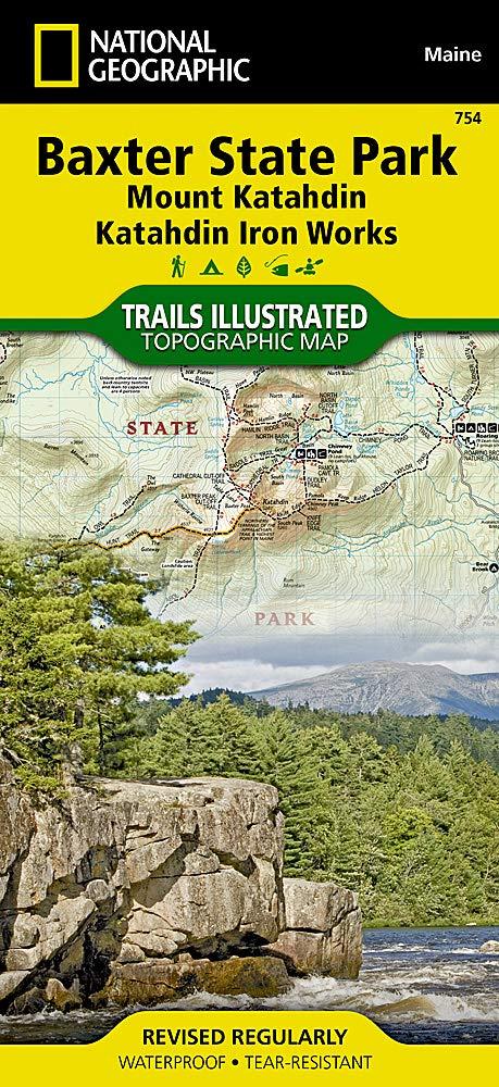 baxter state park maine map Baxter State Park Mount Katahdin Trails Illustrated Other Rec baxter state park maine map