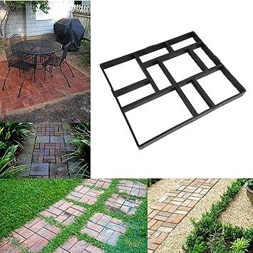 EBTOOLS Molde para Hacer hormigón de pavimento, Molde para hormigón de plástico de Bricolaje, para hormigón, 60 x 50 cm: Amazon.es: Jardín