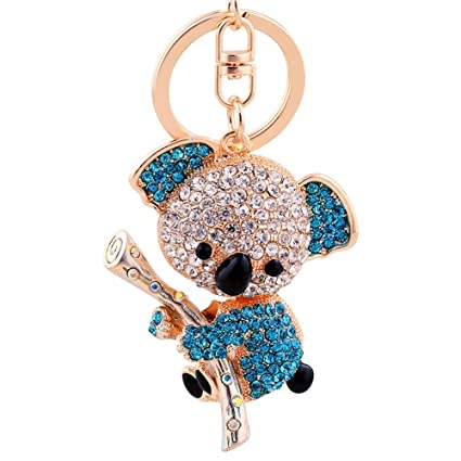 Amazon.com  EASYA Key Keychain Cute Animal Keychain Crystal ... e35d6a3637