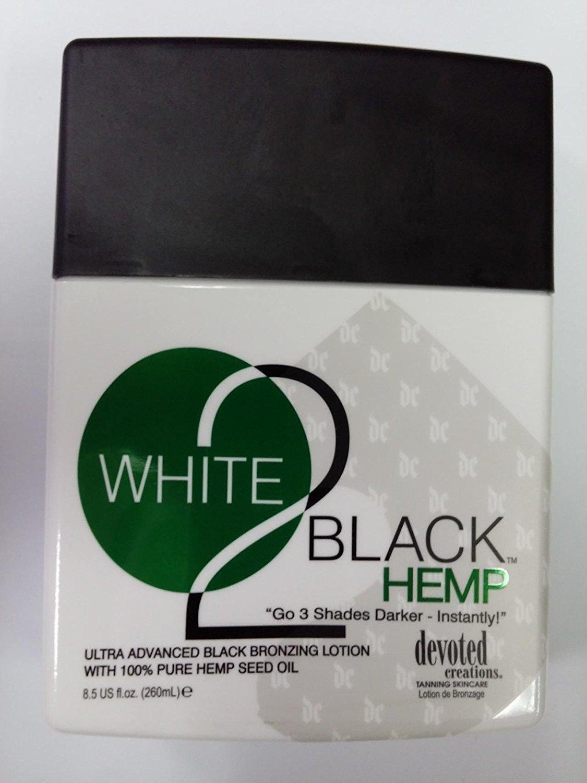 Devoted Creations White 2 Black Hemp Tanning Lotion - 8.5 oz.