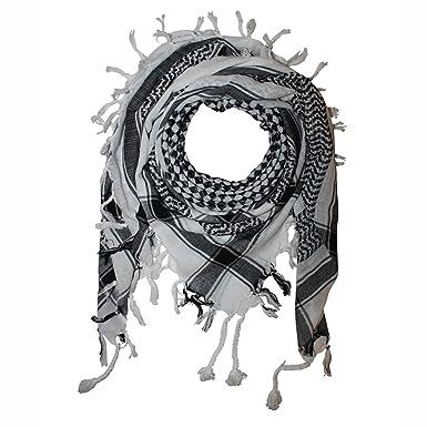 911232cebe3 FREAK SCENE® Foulard palestinien keffieh en coton - motif à carreaux n°2-100  x 100 cm - blanc motif noir  Amazon.fr  Vêtements et accessoires