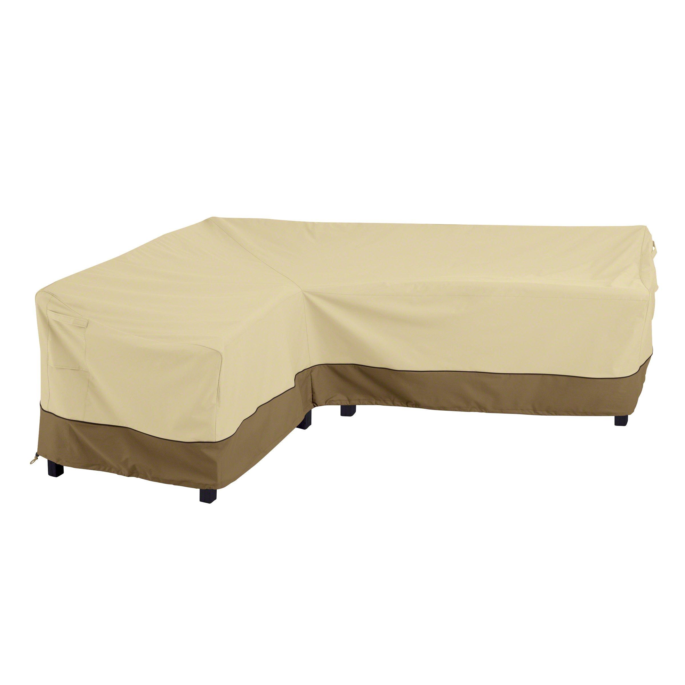 Classic Accessories 55-881-011501-RT Veranda Patio L-Shaped Sectional Sofa Cover, Left Facing