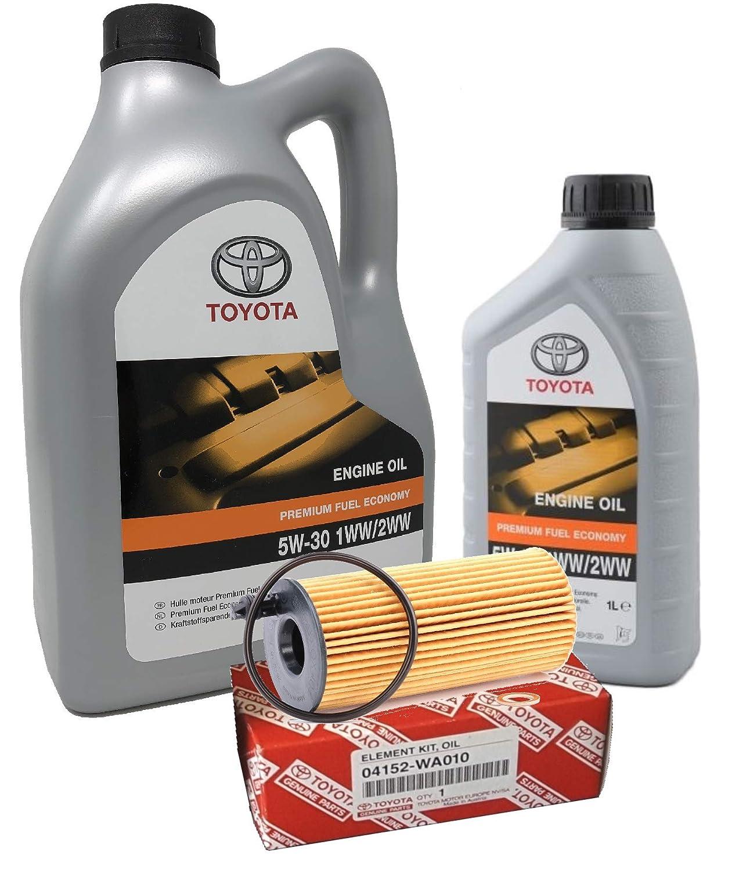 Original Engine Oil - Toyota PFE 5W-30 1WW 2WW, Pack 6 Litres
