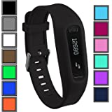 DelTex® Silicone Band / Strap With Secure Adjustable Buckle Fastener For Fitbit One Activity Tracker Wristband Bracelet