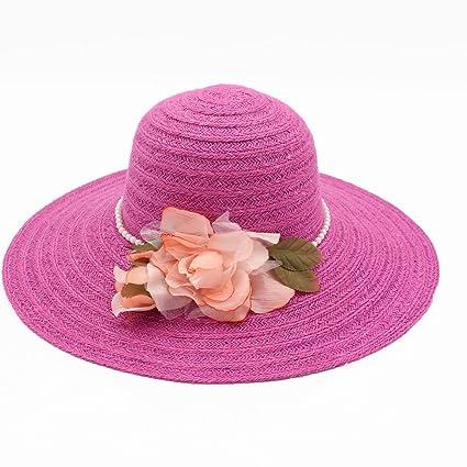 GAOJUAN Cappello da Donna Cappello di Paglia Cappello da Sole Bordo Grande  Protezione dal Sole Cappello 5e10e89965ba