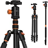 "PHOPIK 77 Inches Tripod, Lightweight Aluminum Camera Tripod for DSLR, Photography Tripod with 360 Degree Ball Head 1/4"" Quick Release Plate Professional Tripod Load up to 17.6 Pounds"