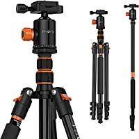 PHOPIK 77 Inches Tripod, Lightweight Aluminum Camera Tripod for DSLR, Photography Tripod with 360 Degree Ball Head 1/4…
