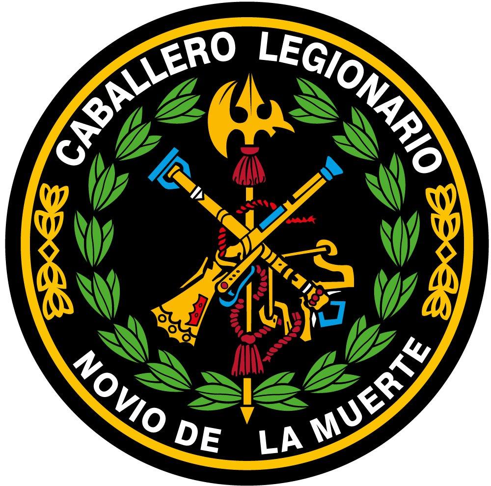 Artimagen Pegatina C/írculo Logo Legi/ón Color y Laurel /ø 50 mm.