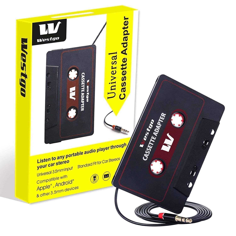Gezan Audio Aux Cassette Adapter-Car Cassette Adapter-Audio Cassette Player-Retro and Vintage Cassette Adapter