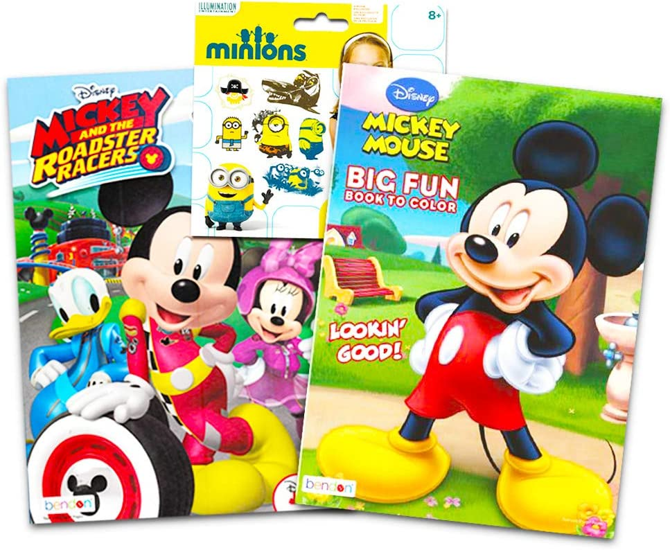 - Amazon.com: Mickey And The Roadster Racers Disney Coloring Book Super Set  With Planes Tattoos (Party Supplies): Toys & Games