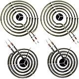 4 Pack MP22YA Electric Range Burner Element Unit Set 4- MP15YA(2) MP21YA(2) for Whirlpool, KitchenAid, Maytag range burner,Re