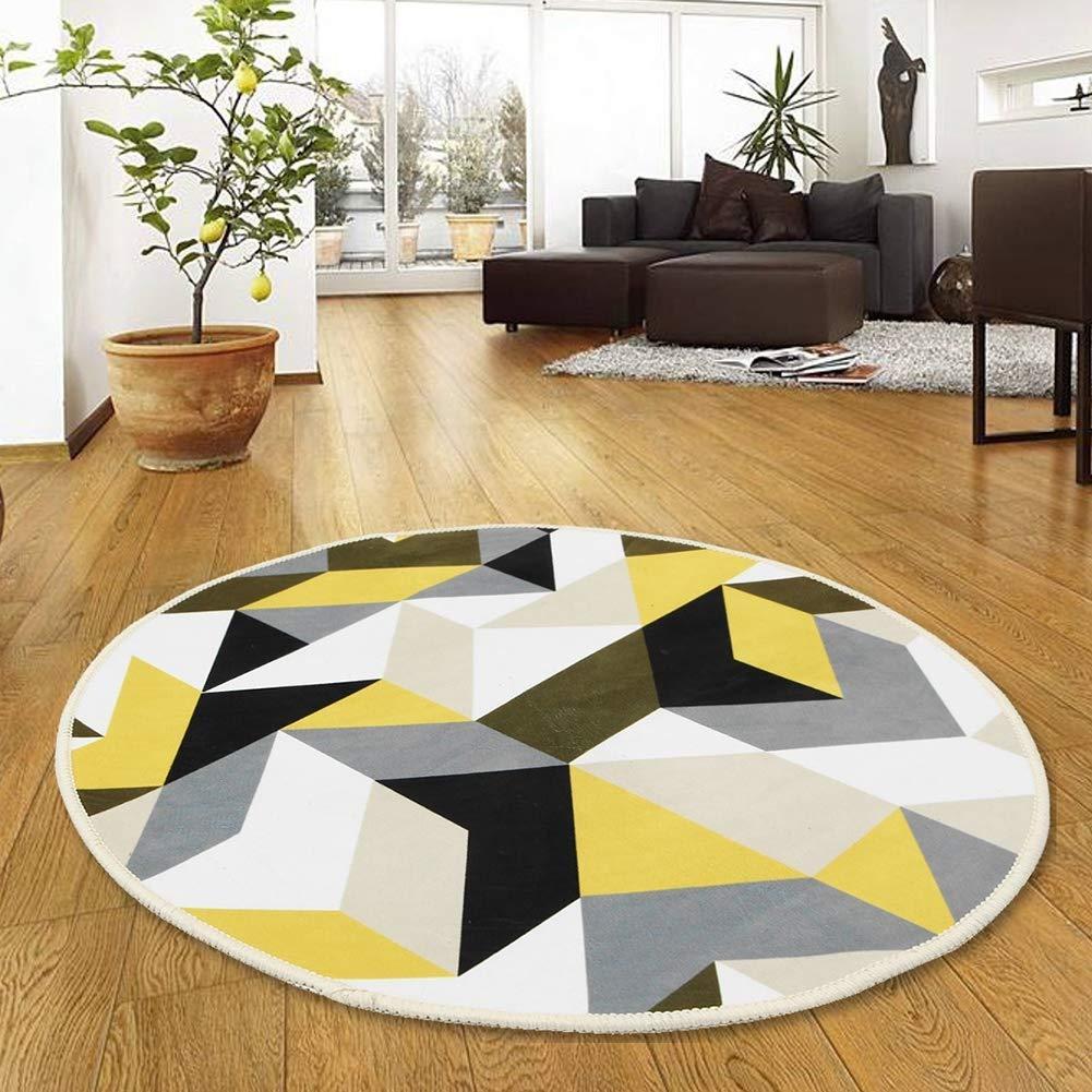 40 cm Sala de Estar Alfombra Redonda Antideslizante para Dormitorio Accesorios de decoraci/ón Wifehelper