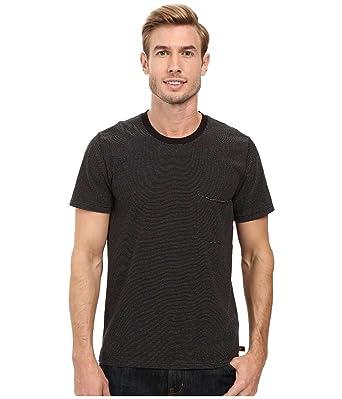 045846145e Amazon.com: 7 For All Mankind Men's Stripe Ringer Short Sleeve Pocket T- Shirt in Ecru Navy: Clothing