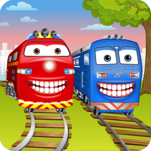 Train Wash Dentist Game - Little Kids Play Doctor to Tune Up Locomotives -