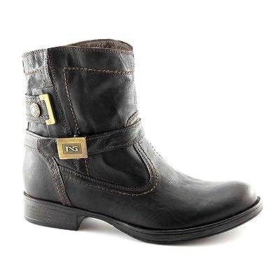 BLACK GARDENS 16001 dunkelbraun Ankle Boots Frauen Biker 37  Amazon.de   Schuhe   Handtaschen 99a53e9eb8