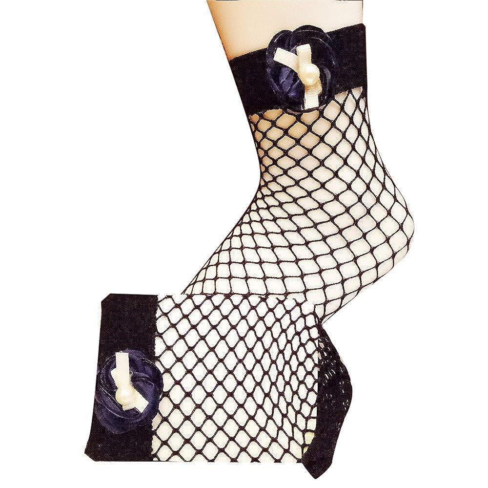 2019 Barato Calcetines Altos Mujer Calcetines Cortos Con Cordones De Malla De Malla De Malla De Encaje Sexy Para Mujer: Amazon.es: Ropa y accesorios