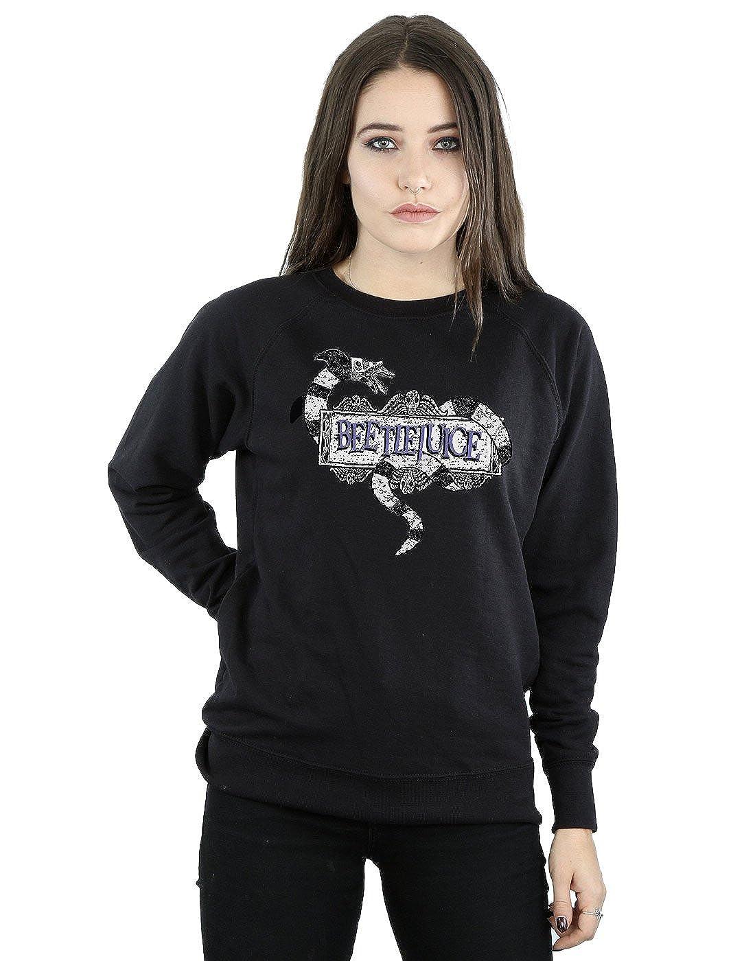 Beetlejuice Mujer Sandworm Logo Camisa De Entrenamiento