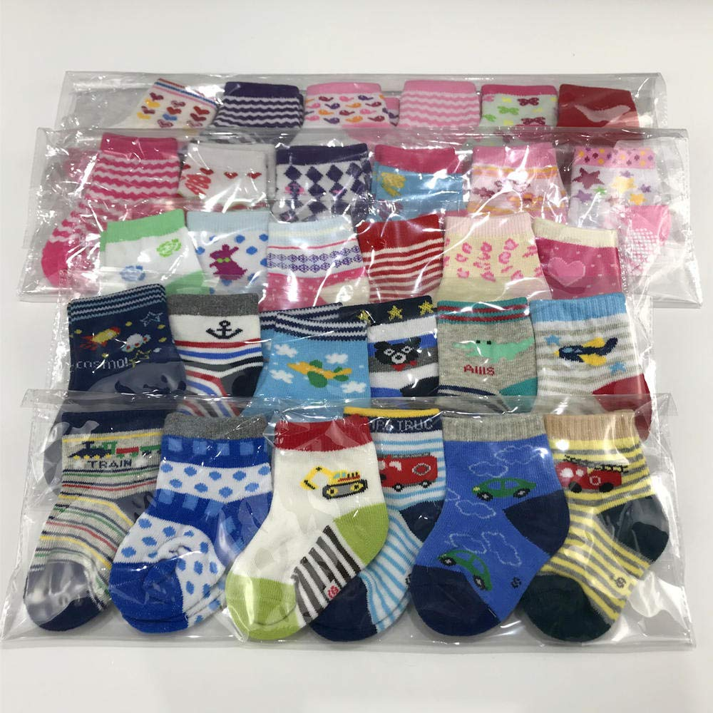 Baby Socks Wholesale for Infant Toddler 0-24 months Pattern at Random