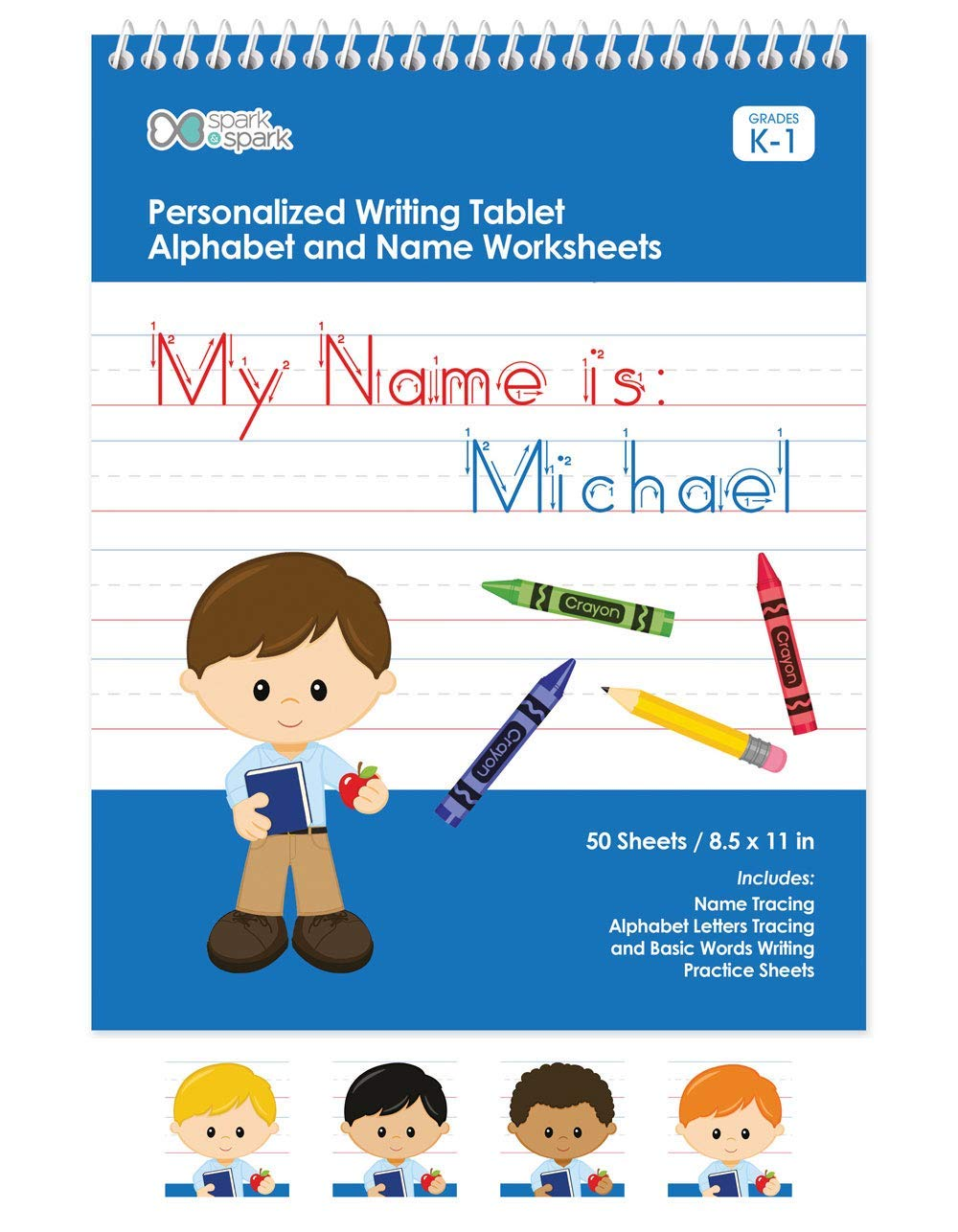 Personalized English Writing Book For Boys