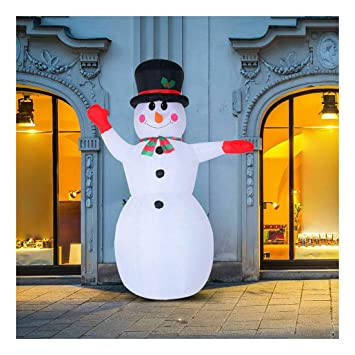 Amazon.com: Muñeco de nieve inflable de 8 pies para ...