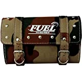 Fuel Army Square Premium Saddle Bag for Harley Davidson (Brown)