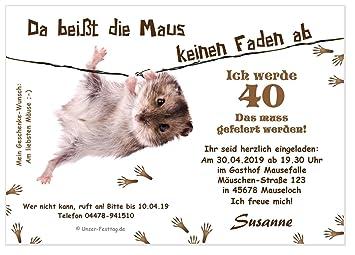 Unser Festtag Lustige Einladungskarte Maus Am Faden Coole