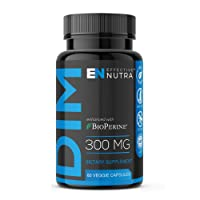 DIM Supplement 300mg - Extra Strength DIM (Diindolylmethane) + 5mg BioPerine 60-Day Supply Provides Estrogen Balance, Hormone Menopause Relief, Treatment of Acne & PCOS