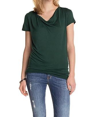 997cc1020300 ESPRIT Collection Damen T-Shirt mit Faltenwurf