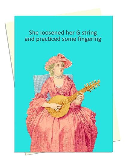 G String Rude Tarjeta de cumpleaños para esposa, esposo ...