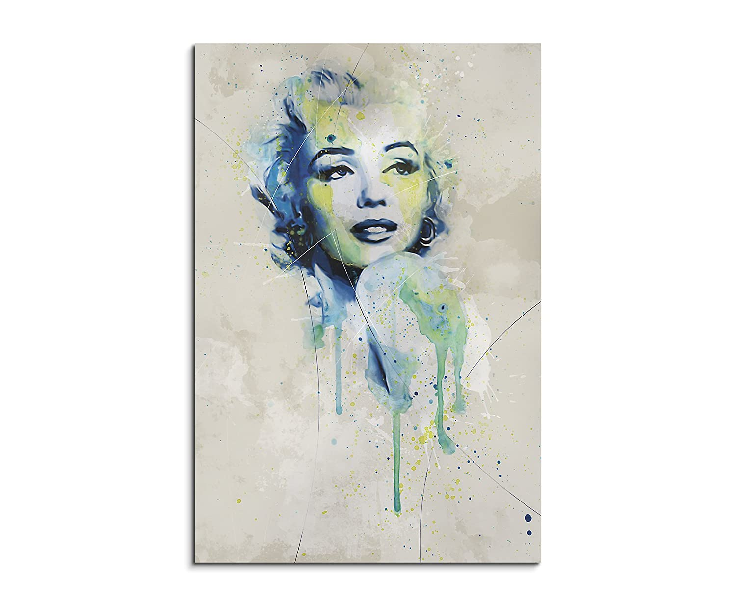 Amazon.de: Paul Sinus Art Marilyn_Monroe_Aqua_90x60cm Wandbild ...