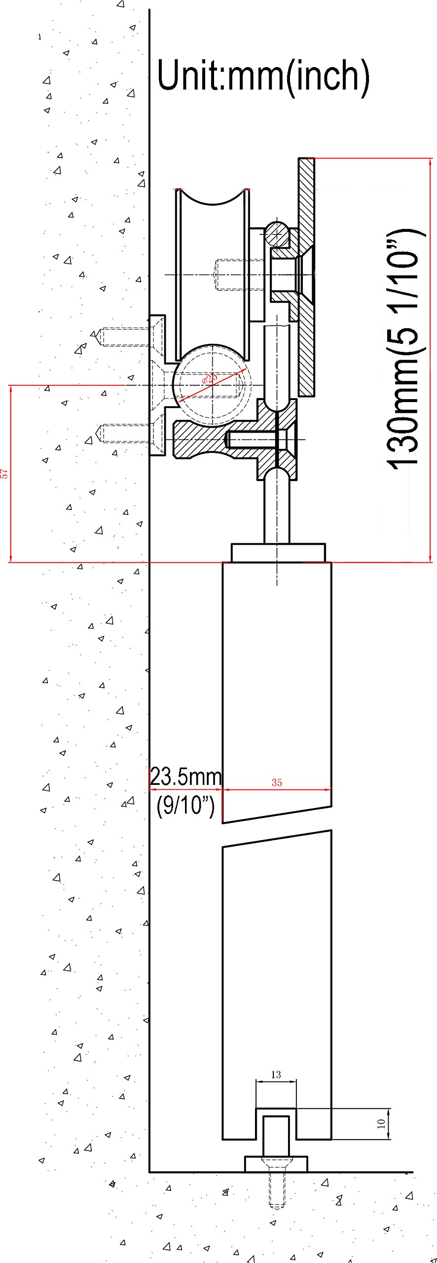 DIYHD 10ft Top Mounted Stainless Steel Double Sliding Barn Wood Door Track Kit Hardware