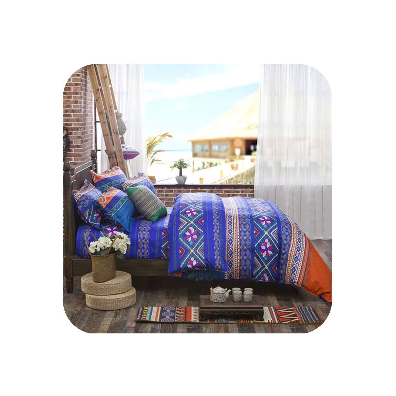 Winner Bedding Set Long Staple Cotton Twin Queen Size Duvet Cover Set Rosered Bedclothes 4Pcs Bed Flat Linen Sheet Duvet Cover,Night,3pcs